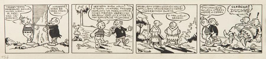 """""""Niezwykłe przygody Kajtka-Majtka"""" - pasek komiksowy nr 156, 1960"""