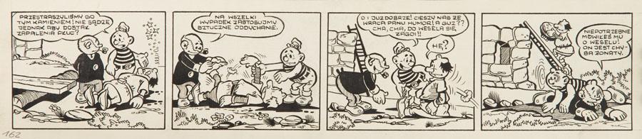 """""""Niezwykłe przygody Kajtka-Majtka"""" - pasek komiksowy nr 162, około1960"""