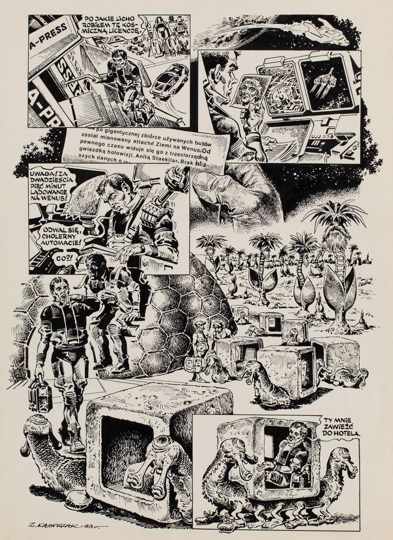 """""""Człowiek bez twarzy"""", Na progu tajemnicy (odc. 2) - plansza komiksowa nr 2, 1983"""