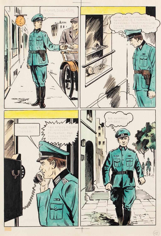 """Kapitan Kloss"", Wsypa, odc. 2 - plansza komiksowa nr 12, 1971"