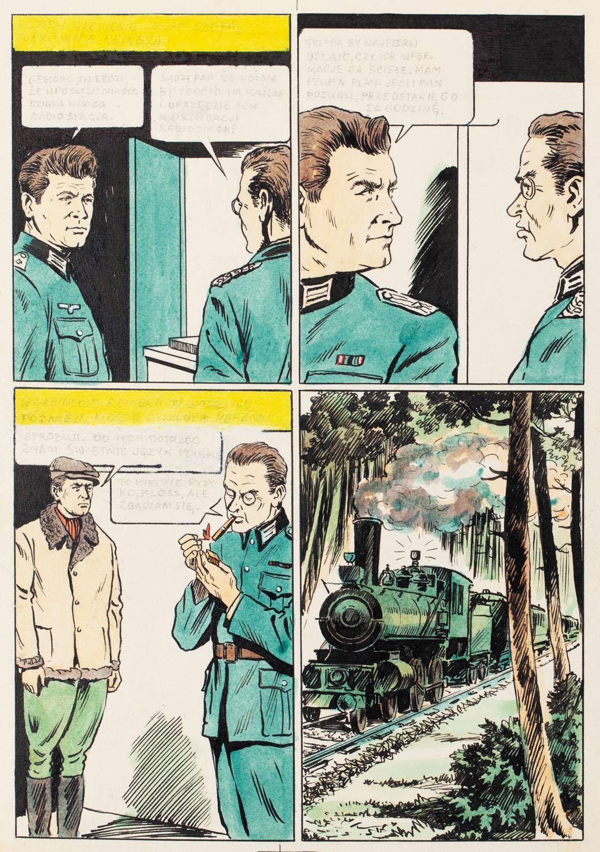 """Kapitan Kloss"", Wsypa, odc. 2 - plansza komiksowa nr 13, 1971"