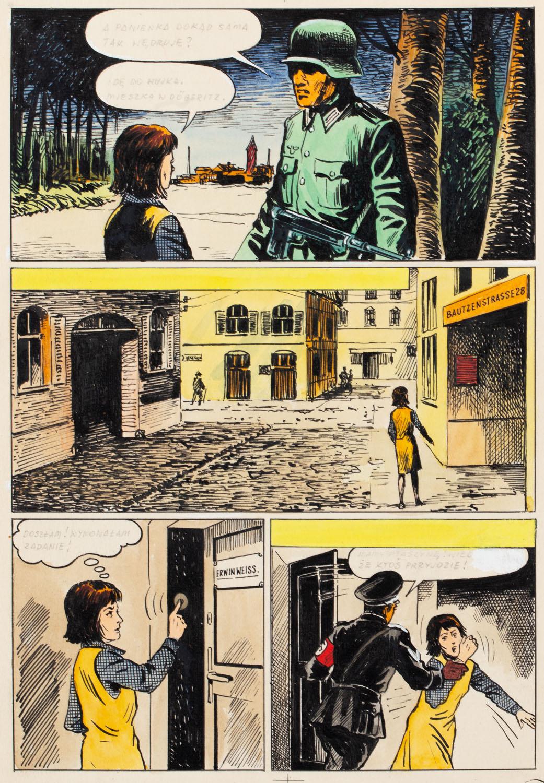 """Kapitan Kloss"", Akcja ""Liść Dębu"", odc. 17 - plansza komiksowa nr 10, 1971-73"