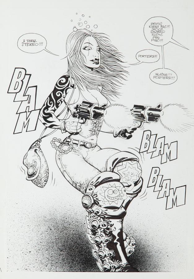 """Emilia, Tank & Profesor"", Środa - plansza komiksowa nr 7, 2002"