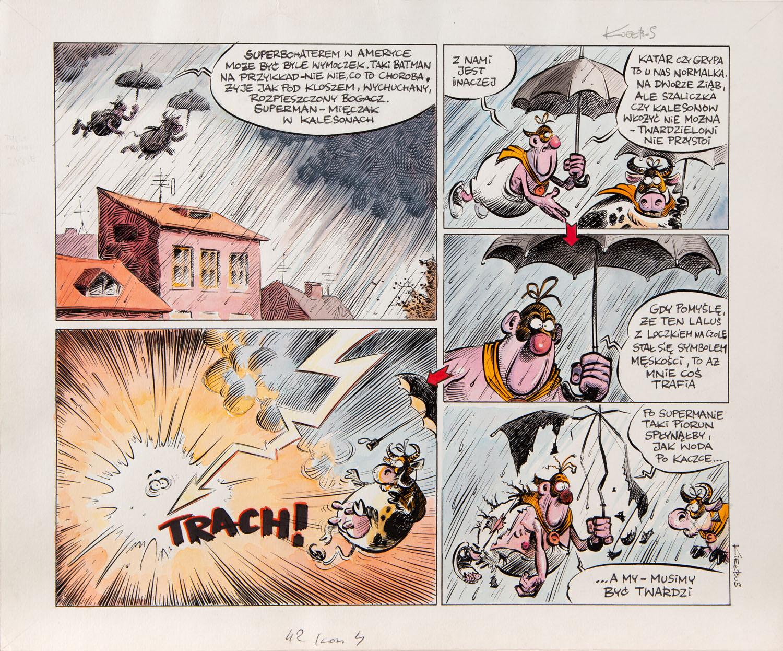 """""""Milky Men"""", Super Hero - plansza komiksowa"""