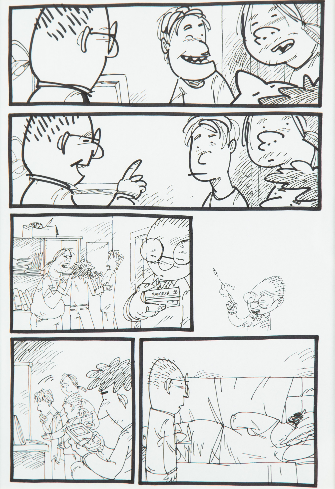 """""""Na szybko spisane"""" - plansza komiksowa, około2000"""