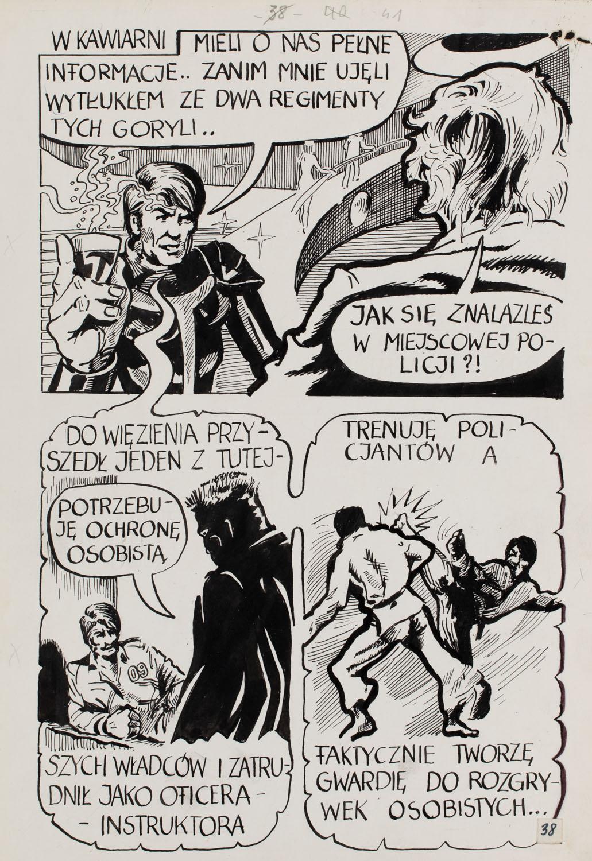 """""""Noc sprawiedliwych pięści"""" - plansza komiksowa nr 38, 1982"""