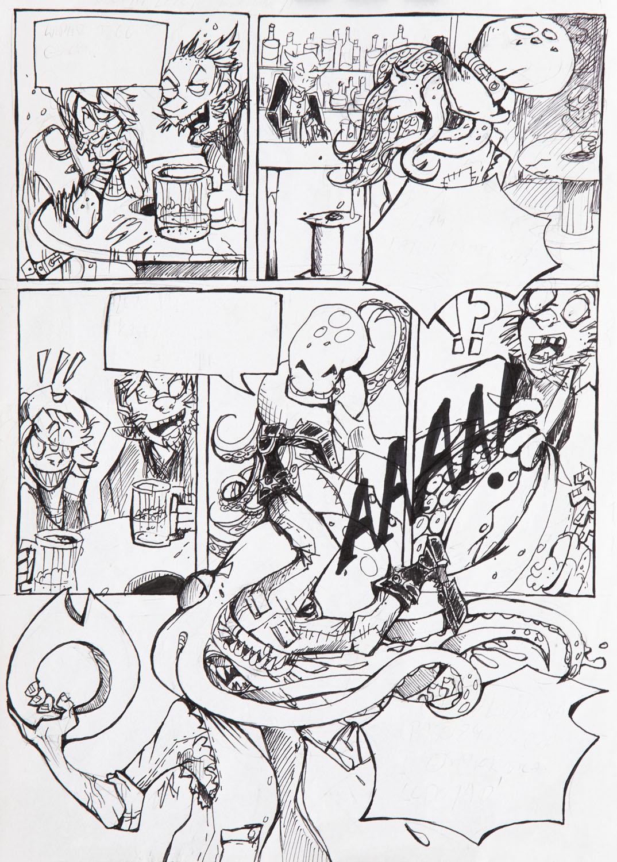 """""""Trójoki Tom"""", Saloon samobójców - plansza komiksowa, 2015 - 2020"""