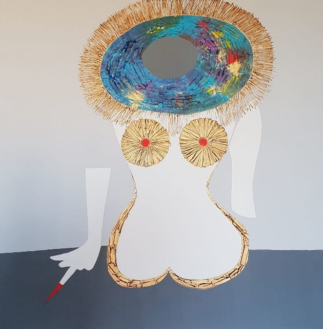 Kobieta w kapeluszu, 2020
