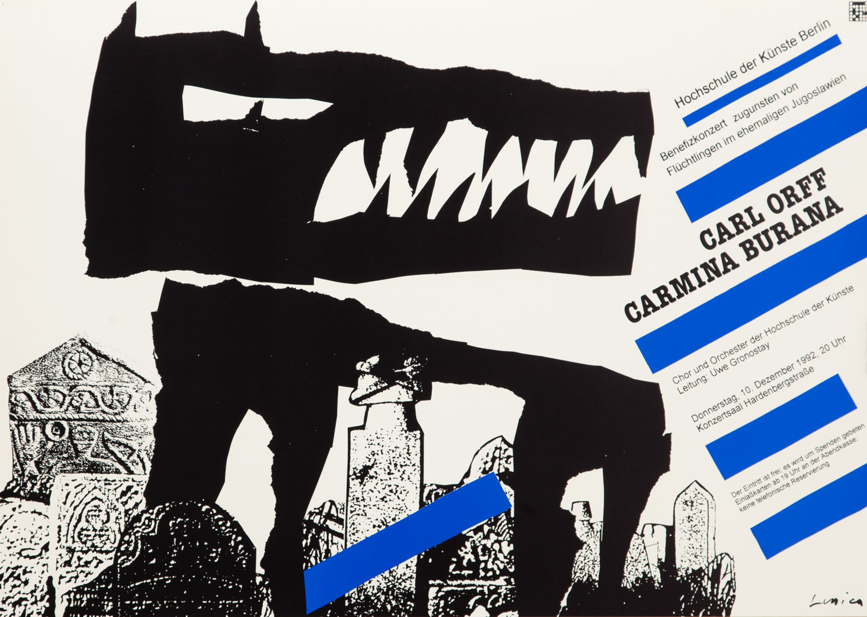 "Plakat do opery ""Carmina Burana"" Orff'a Carl'a, 1992"