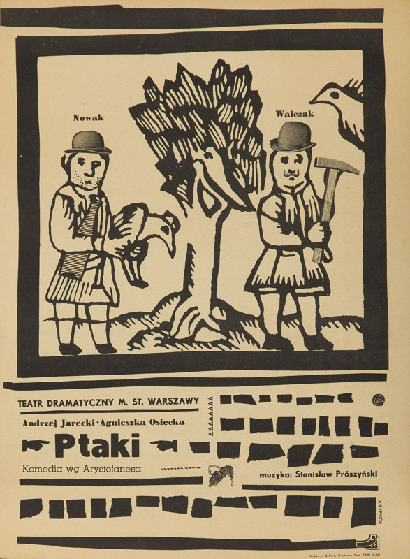 "Plakat do sztuki ""Ptaki"", 1960"