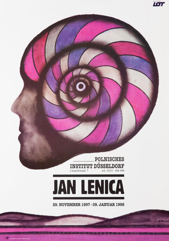 "Plakat wystawy ""Jan Lenica"" w Polnisches Institut Düsseldorf, 1997"