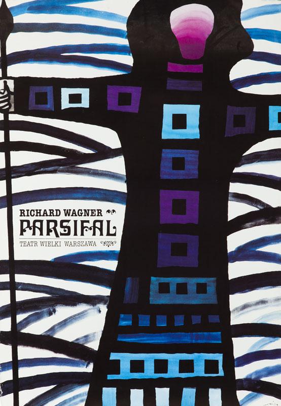 """Plakat do opery """"Parsifal"""", około1992"""