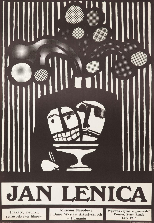 """Plakat wystawy """"Jan Lenica. Plakaty, rysunki, retrospektywa filmów"""", 1973"""