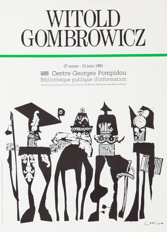 """Plakat do wystawy """"Witold Gombrowicz"""", 1991"""