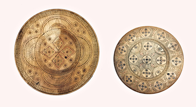 Zestaw dwóch talerzy okrągłych