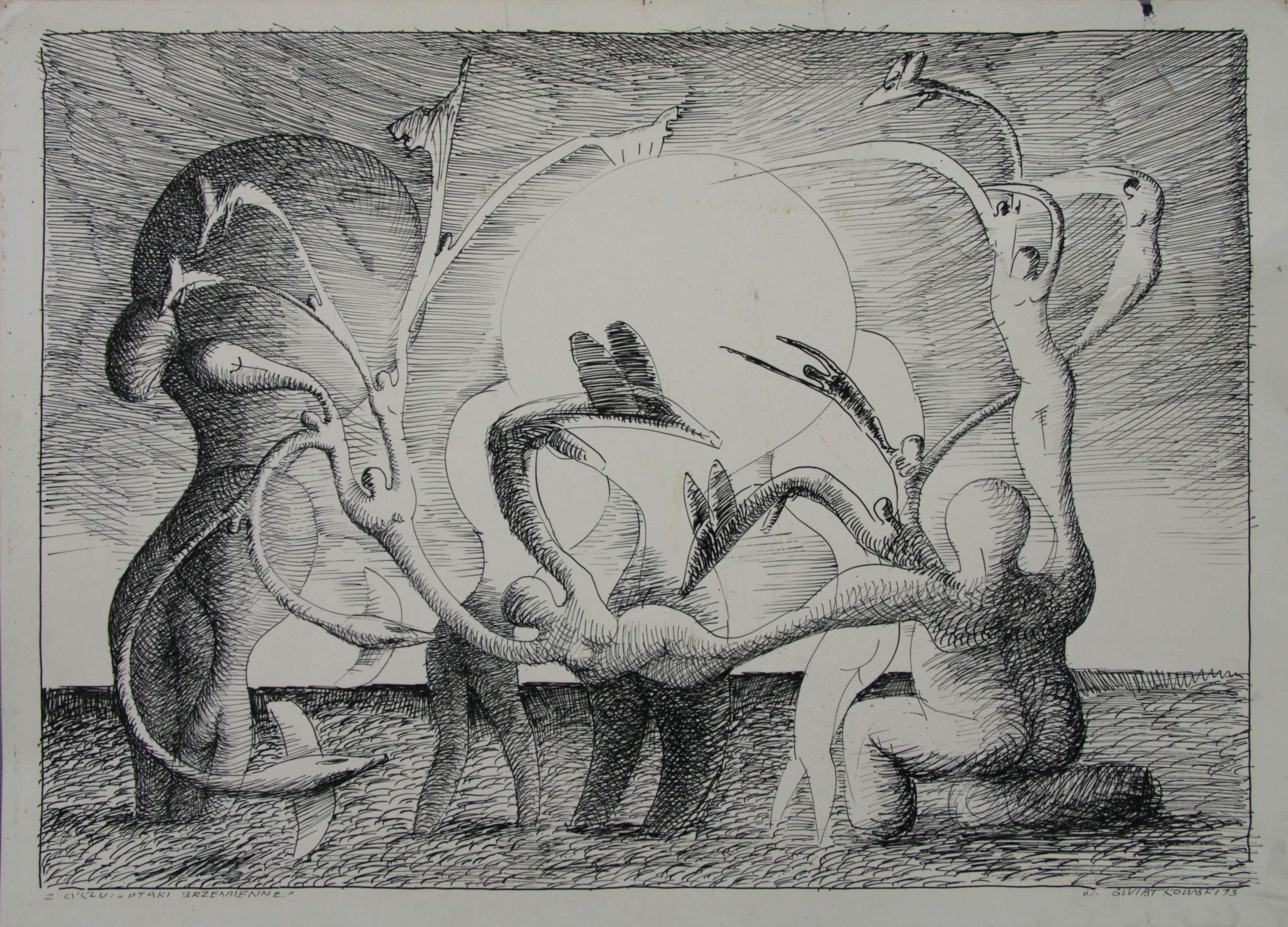 Z cyklu Ptaki Brzemienne