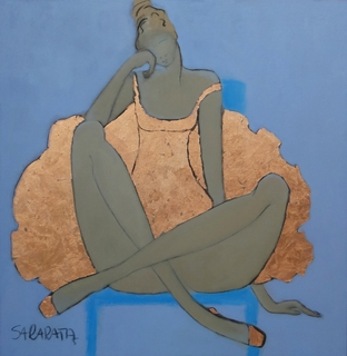 Ballerina na niebieskim fotelu, 2020