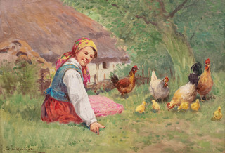 Dziewczyna z kurami