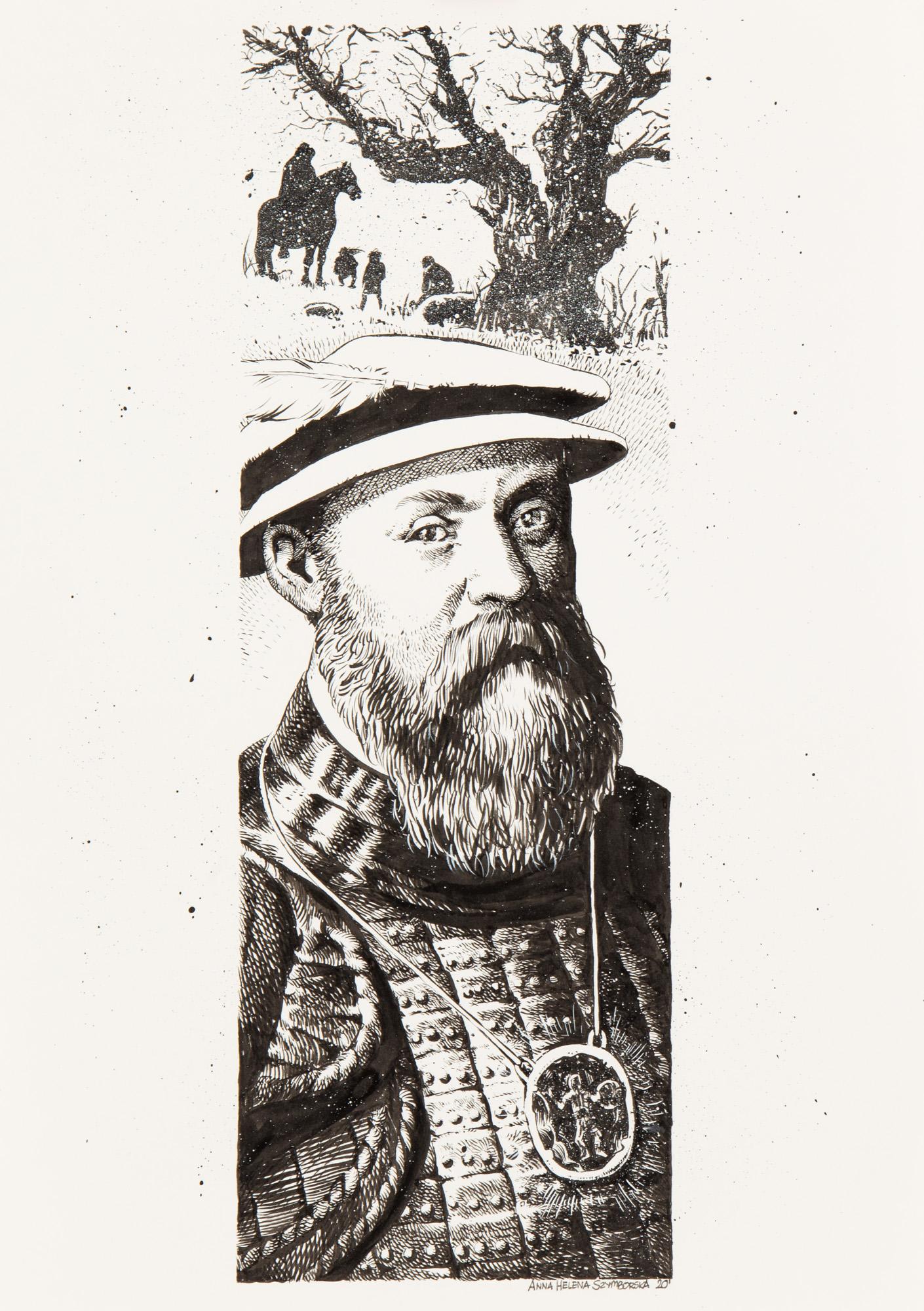 """Ilustracja do opowiadania Johna Crowleya """"Krzemień i zwierciadło"""", 2020"""