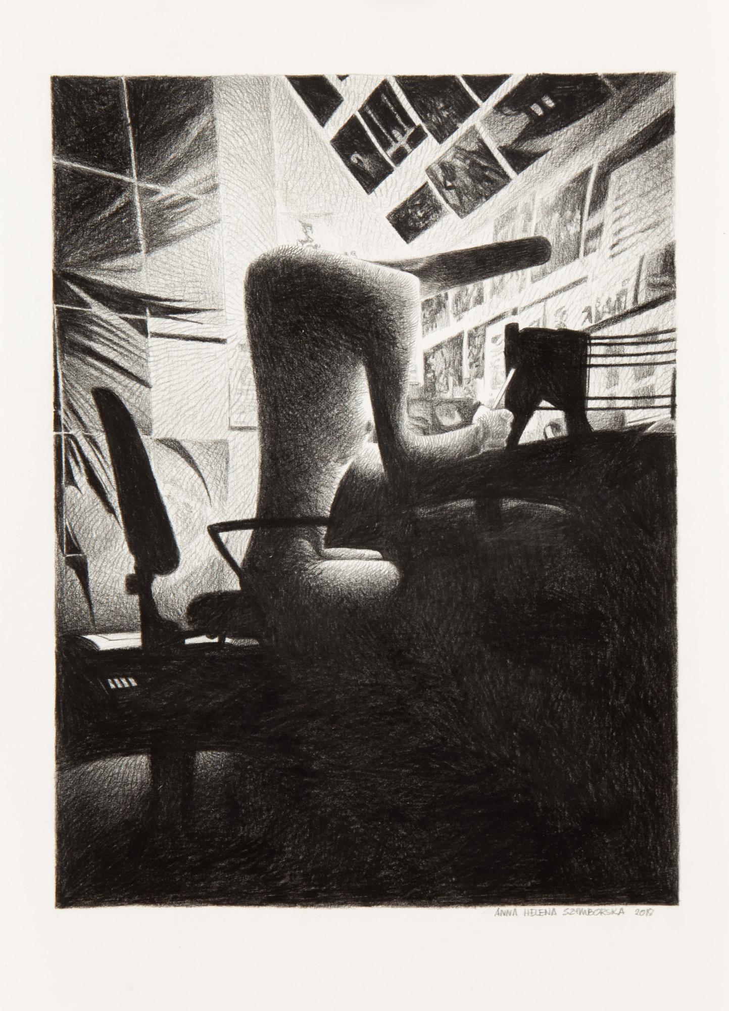 W pracowni, autoportret