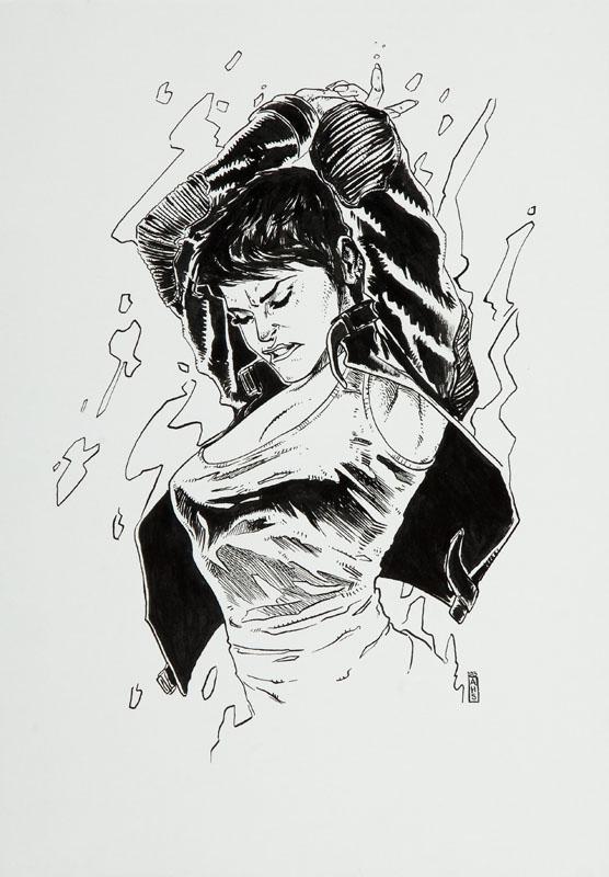 Kobieta, ilustracja komiksowa, 2013 r.