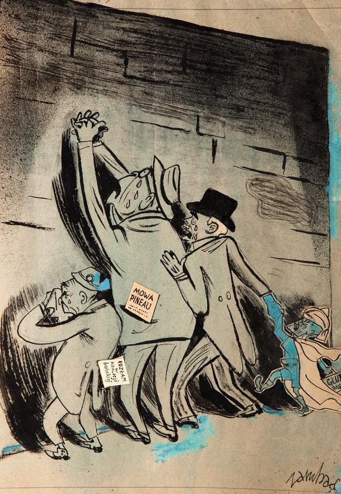 Mowa Pineau, ilustracja satyryczna, 1956 r.
