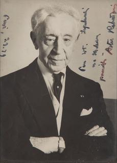 Fotografia Artura Rubinsteina z osobistą dedykacją