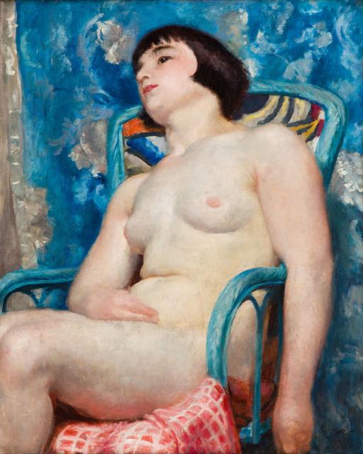 Akt w niebieskim fotelu