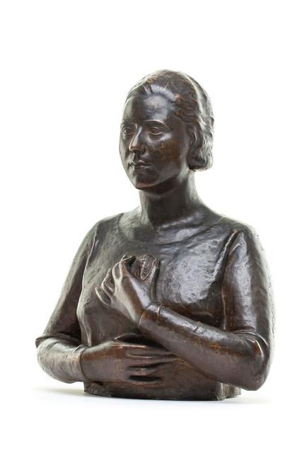 Popiersie kobiety z medalionem, 1925