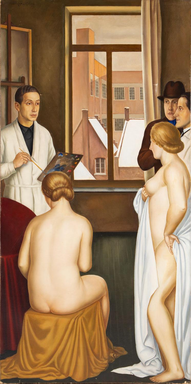 """""""Dans l'atelier"""" \ Autoportret w pracowni, 1927-1928"""