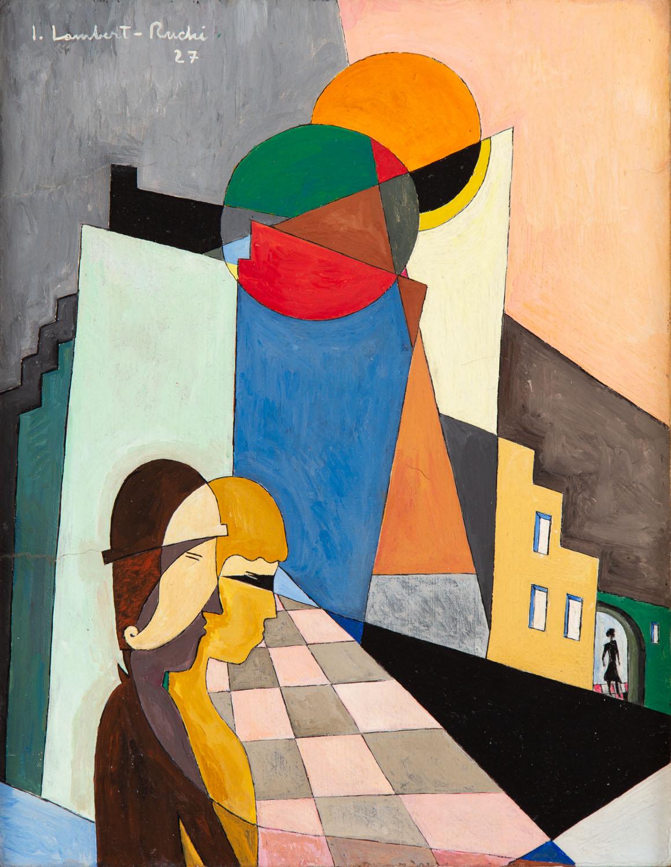"""""""Personage dans la ville"""", 1927"""