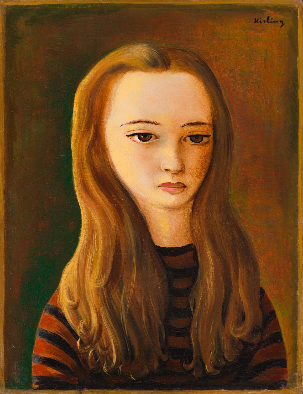 Portret długowłosej dziewczyny, 1942