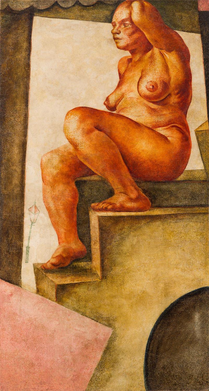 """""""Akt kobiety na schodach"""", około 1925"""