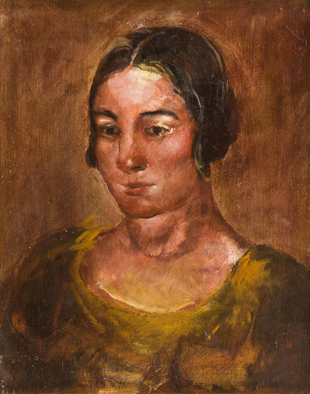 Popiersie młodej kobiety w ciemnej tonacji, 1925-28