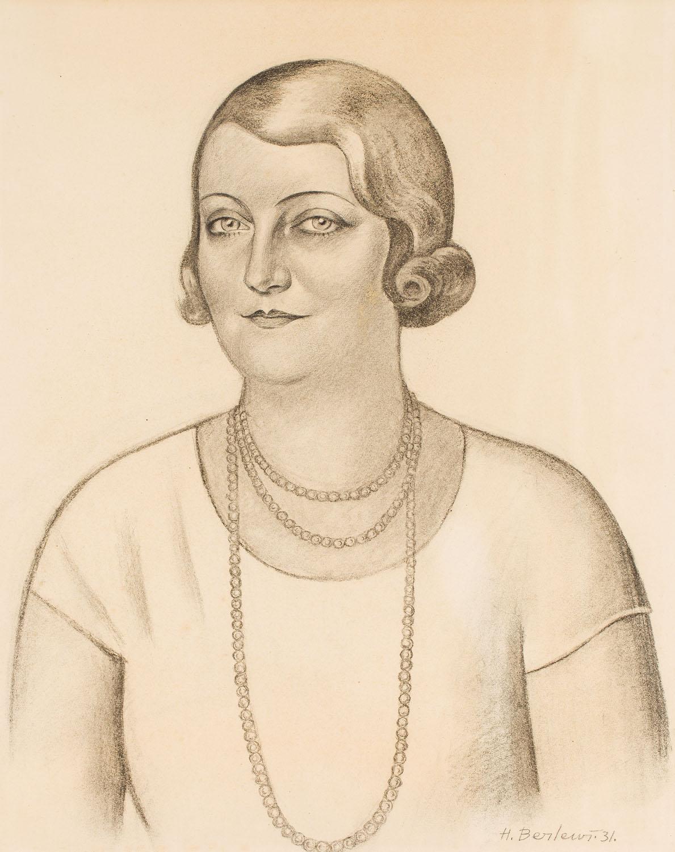 Portret kobiety w perłowym naszyjniku, 1931