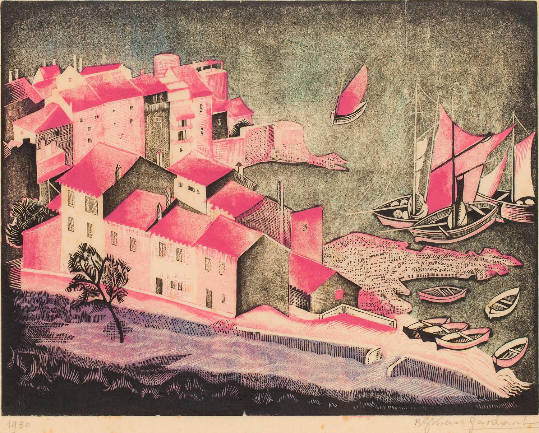"""""""Pejzaż morski"""" (Port w Toulon), 1930"""