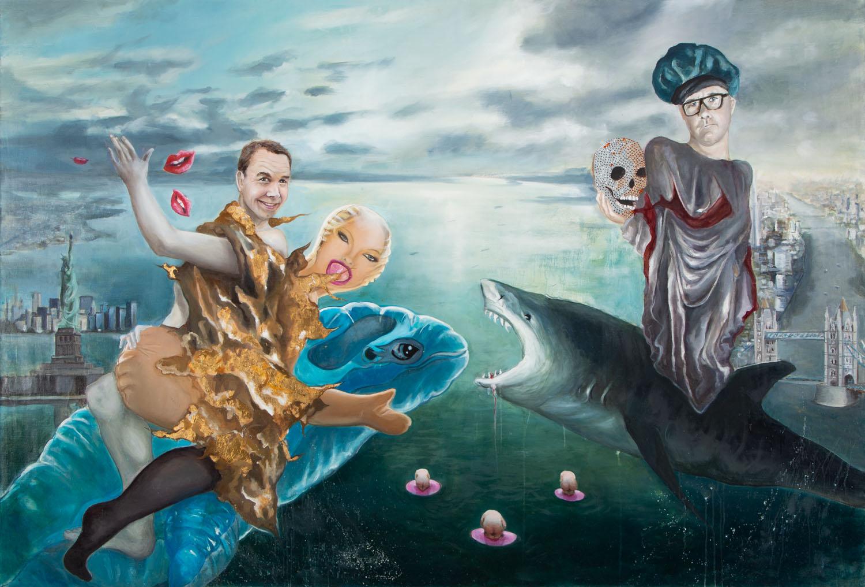 """""""Jeff Koons i Damien Hirst dzielą rynek sztuki"""", 2013"""