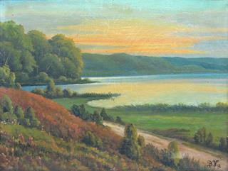 Pejzaż z jeziorem