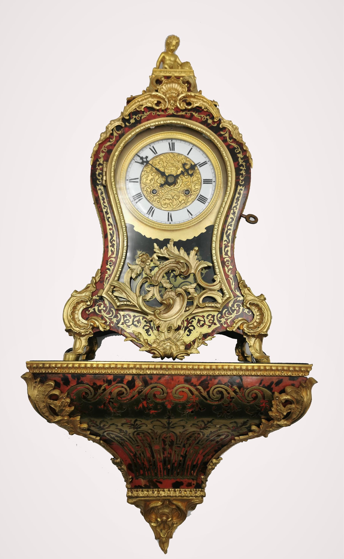 Zegar konsolowy w typie Boulle'a