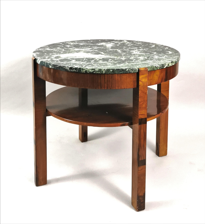 Stolik art déco z marmurowym blatem