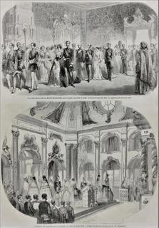 Sceny z pałacu w Peterhofie
