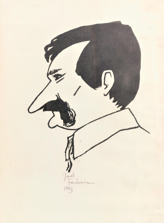 Lech Wałęsa [z profilu], 1983