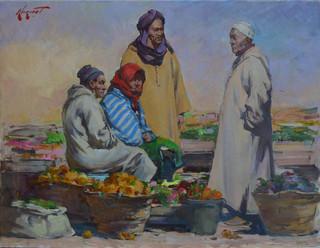 """""""Na bazarku w Marocco"""", 2020"""