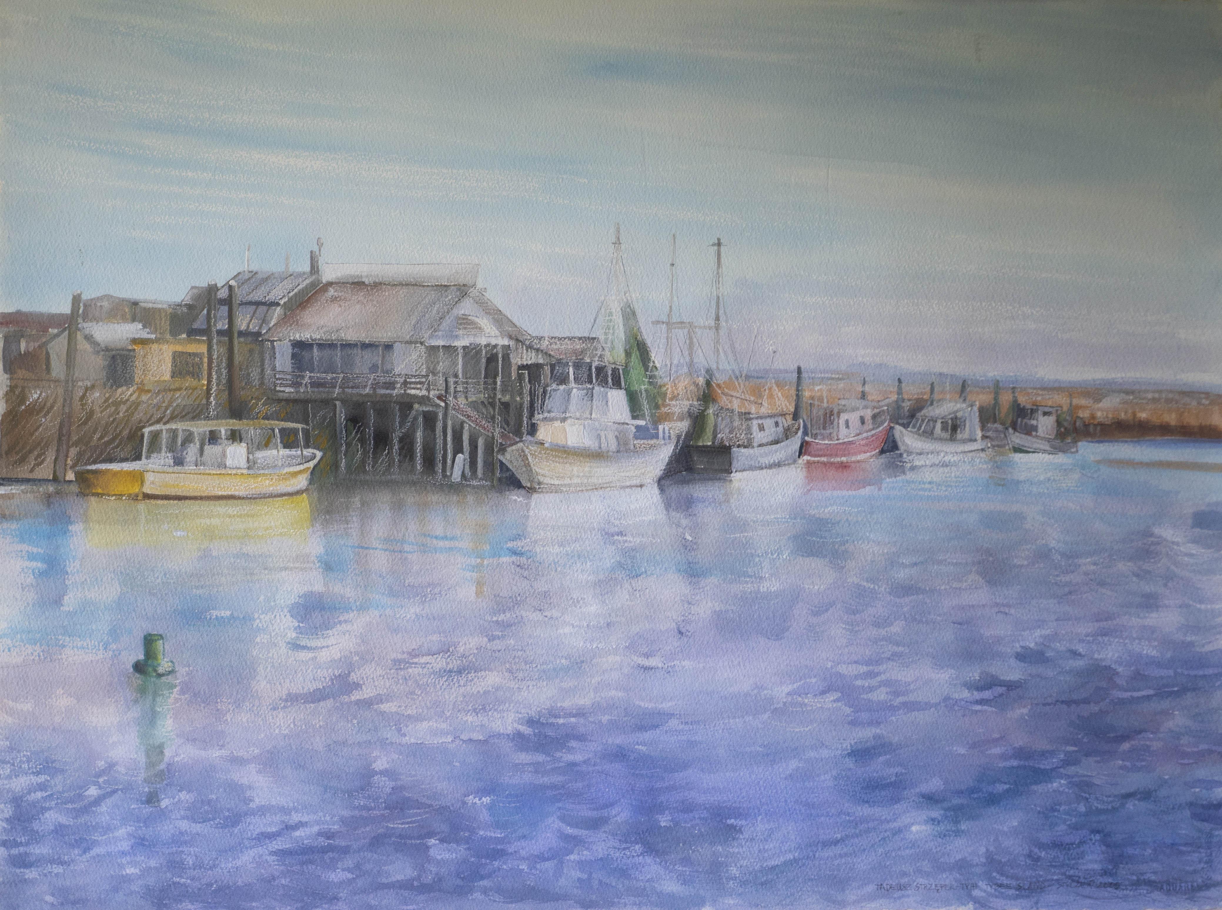 """""""Port poławiaczy krewetek na Tybee Island"""", 2005"""