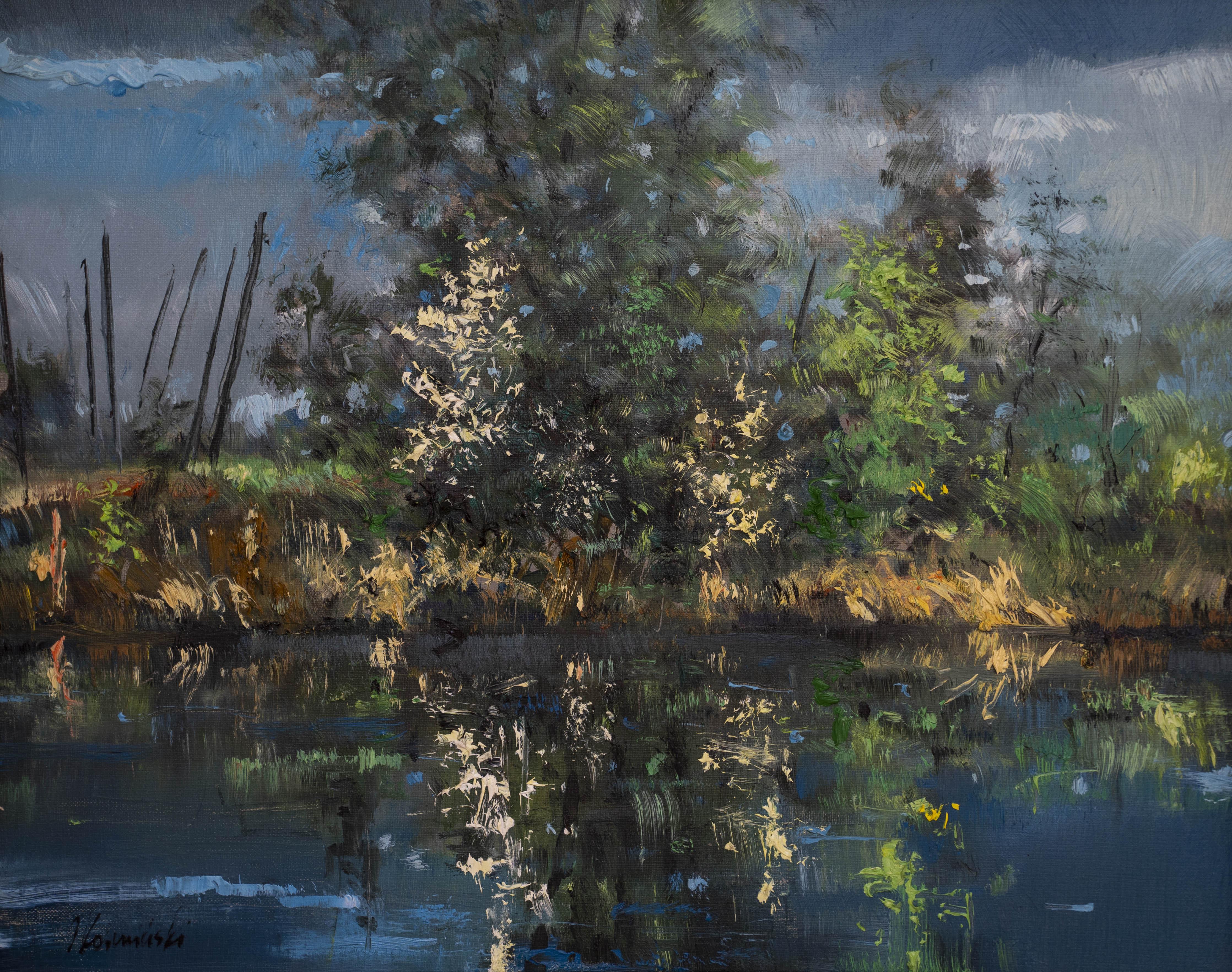 """""""Jezioro w Szczekarkowie"""", 2020"""