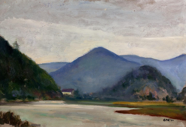 Pejzaż z okolic Muszyny, 1922