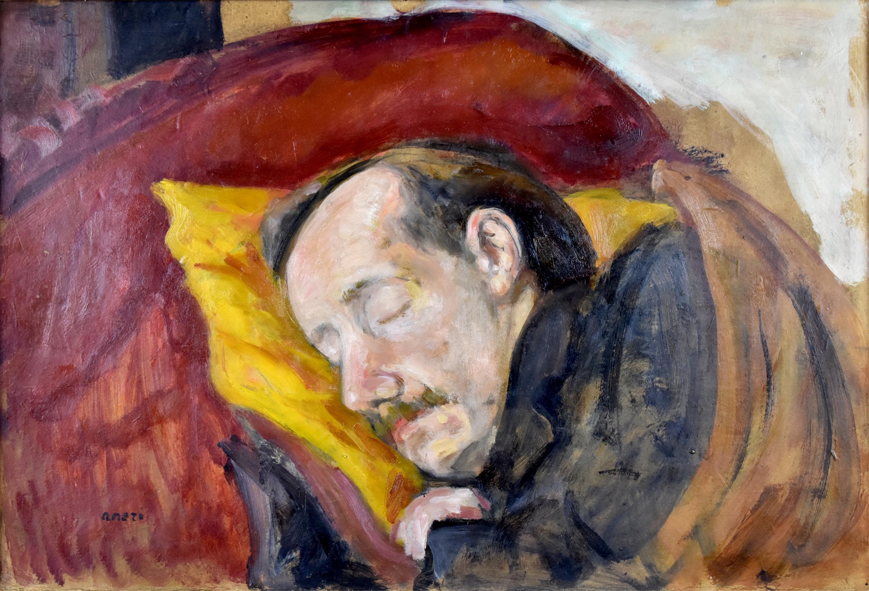 Śpiący Wojciech Weiss, ok. 1930