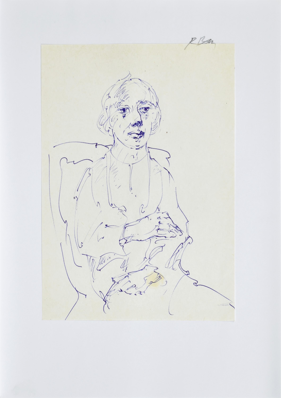 Szkic kobiety siedzącej na krześle