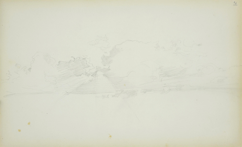 Studium pejzażu – karta ze szkicownika