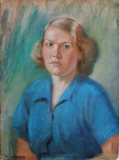 Portret żony artysty Zofii, 1948